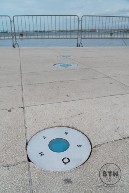 The Mars light as part of the Sun Salutation in Zadar, Croatia