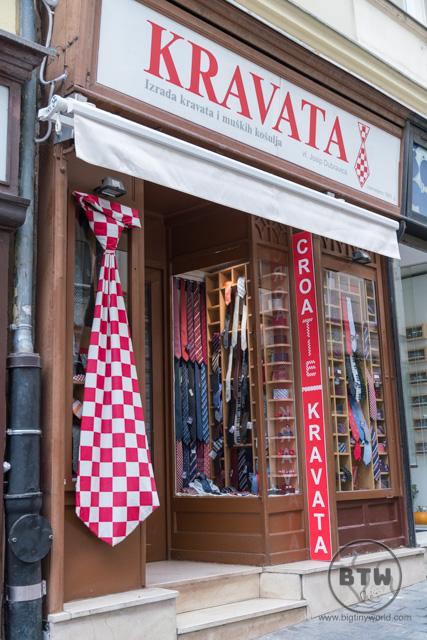 A tie shop in Zagreb, Croatia