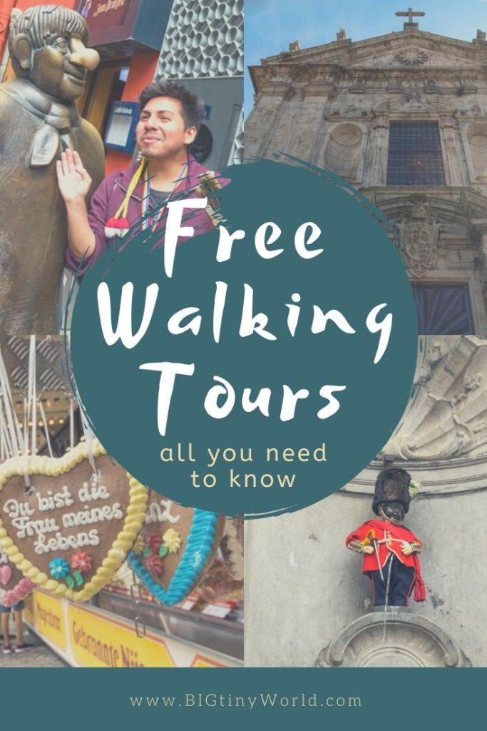 Free Walking Tours: All You Need to Know | Free walking tours are an excellent way to get to know a new city while traveling. Curious what they're all about?  We've got you covered! | BIG tiny World Travel | #bigtinyworld #walkingtours #europetravel #travel