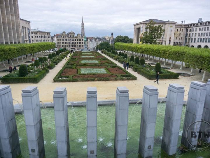 A garden in Brussels, Belgium