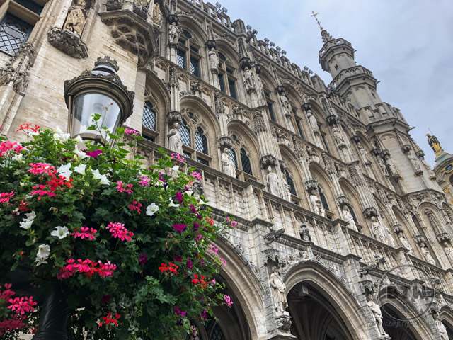 One of the guildhalls on the Grand Square in Brussels, Belgium