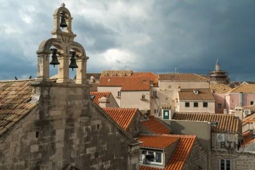 Bells and rooftops in Dubrovnik, Croatia