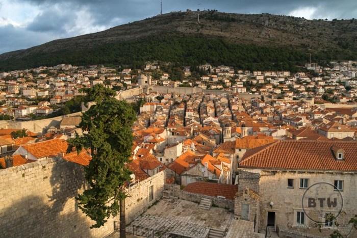 The rooftops of Dubrovnik, Croatia, at sunrise