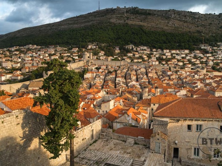 The rooftops of Dubrovnik, Croatia, at sunrise