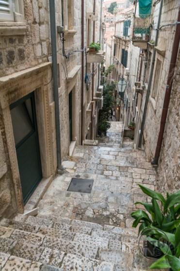 Steps in the city of Dubrovnik, Croatia