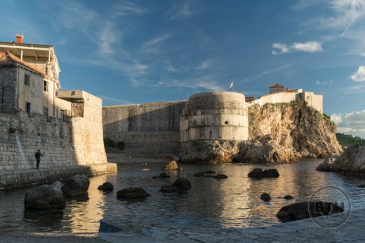 Looking across the bay at Dubrovnik, Croatia