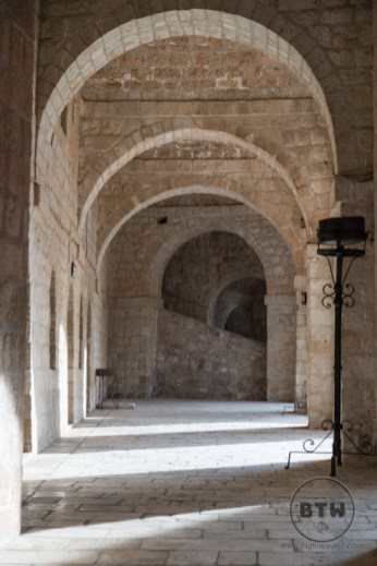 Arches in the fortress in Dubrovnik, Croatia