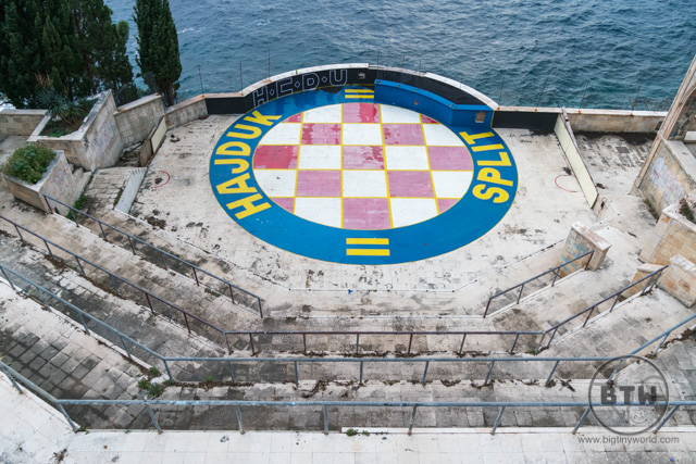 An outdoor arena at the Belvedere Hotel ruins in Dubrovnik, Croatia