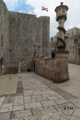 The entrance ramp just inside the gate of Dubrovnik, Croatia