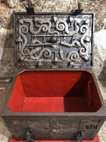 An iron chest at the Rector's Palace in Dubrovnik, Croatia