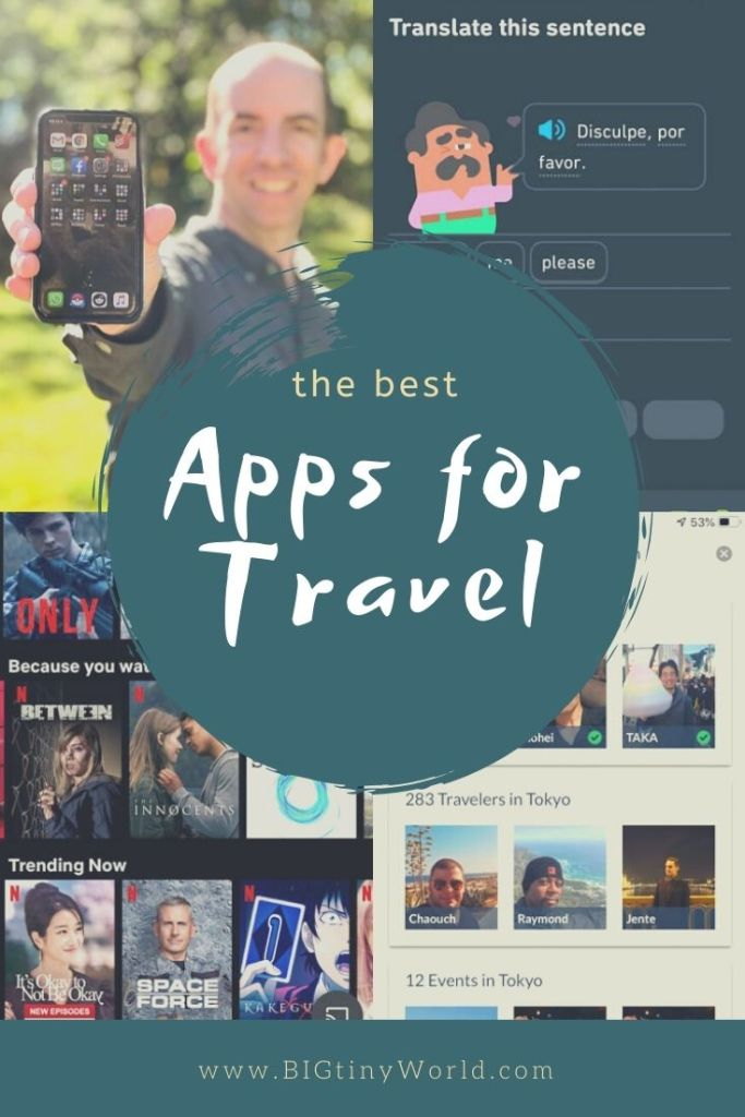 The Best Apps for Full-Time Travel Life | Travel apps managed many aspects of our life of full-time travel. We have found the best ones to help you travel better. Learn more about what apps we use as full-time travelers. | BIG tiny World Travel | #bigtinyworld #travelapps #fulltimetravel #Travellifestyle