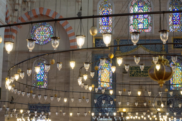 Suleymaniye Mosque Interior Istanbul
