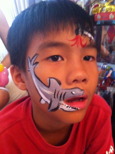 Face Painting Shark Design Singapore