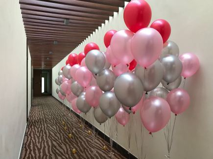 Helium Balloon Boquet Set up