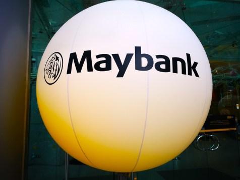 Large Advertising Balloon for Maybank Singapore