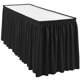 Rectangle table with Black Skirting