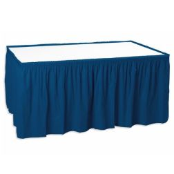 Rectangle table with Blue Skirting