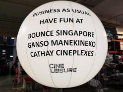 Wording on Large Advertising Balloon