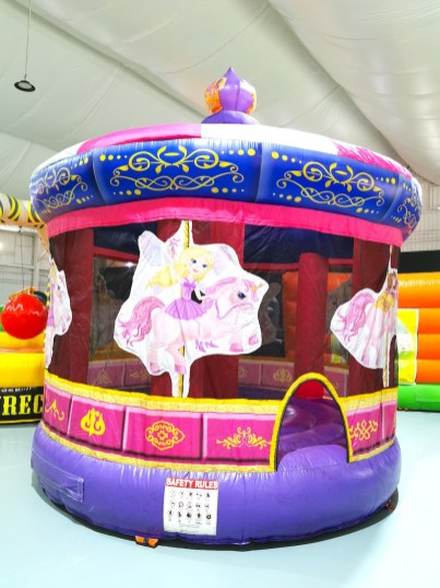 Pink Carousel Bouncy Castle Rental Singapore