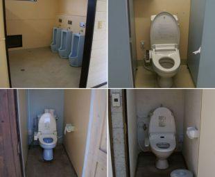 イレブンオートキャンプパーク トイレ内部