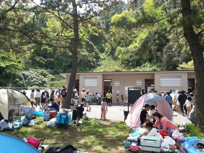 野島公園 トイレは混雑