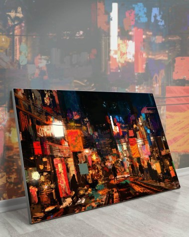 Big Wall Art Decor Huge Large Biggest Gigantic Wall Décor Massive Largest Giant Art Backlit Fabric Home Deco Artwork Instagram Digital Artist Daniel Ignacio Dkaism Instagram Street Sketch Colorful Painting Surreal Future