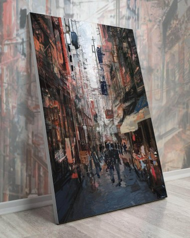 Bigger Wall Art Decor Huge Large Big Biggest Gigantic Wall Décor Massive Largest Giant Art Backlit Fabric Home Deco Artwork Instagram Digital Artist Daniel Ignacio Dkaism Instagram Street Sketch Colorful Painting Surreal Future