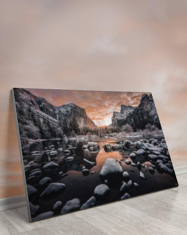 Gigantic Big Biggest Massive Huge Large Largest Giant Wall Décor Art Backlit Fabric Home Deco Artwork Artist landscape street city nature Scenic Photographer Scott Wilson Yosemite National Park California Water Mountains Reflection