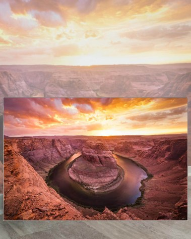 Giant Wall Art Huge Large Big Biggest Massive Largest Gigantic Wall Décor Art Backlit Fabric Home Deco Artwork Artist Andy Vu Andyhvu Landscape Scenic Photography Instagram Desert Canyon Valley Rock Utah