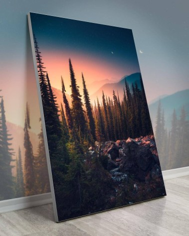 Gigantic Wall Art Decor Big Biggest Massive Huge Large Largest Giant Wall Décor Art Backlit Fabric Home Deco Artwork Artist landscape nature Scenic Photographer Zach Doehler alpine dreamland
