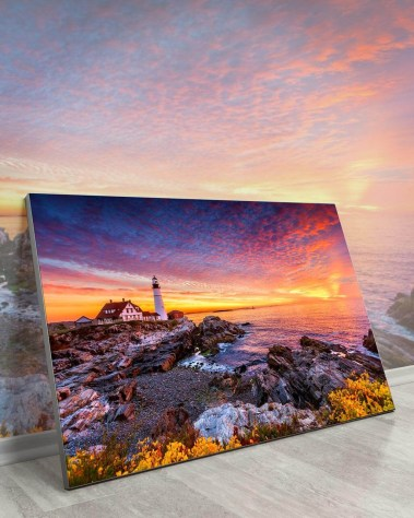 Gigantic Big Biggest Massive Huge Large Largest Giant Wall Décor Art Backlit Fabric Home Deco Artwork Artist New York City Street Icon Aerial Scenic Peter Alessandria Lighthouse Sunset Rocks