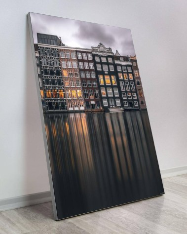 Large Home Deco Art Oversized Gigantic Big Biggest Massive Huge Largest Giant Wall Décor Art Backlit Fabric Home Deco Artwork Artist landscape nature Scenic Photographer Ryan Ditch amsterdam canal reflections