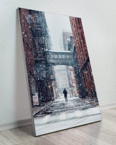 Large Wall Decor New York City Street Art Gigantic Big Biggest Massive Huge Large Largest Giant Wall Décor Art Backlit Fabric Home Deco Artwork Artist New York City Street Icon Portrait Scenic Photographer David Everly skywalk