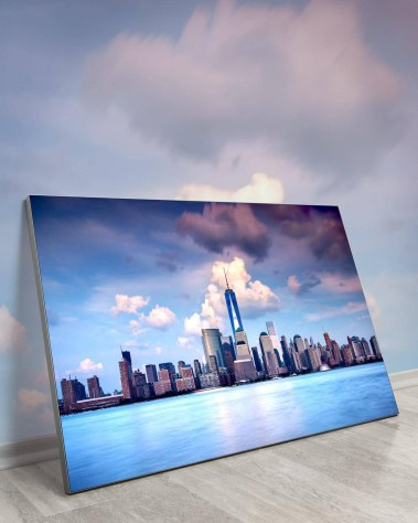 Gigantic Big Biggest Massive Huge Large Largest Giant Wall Décor Art Backlit Fabric Home Deco Artwork Artist New York City Street Icon Aerial Scenic Peter Alessandria Skyline Clouds Calm