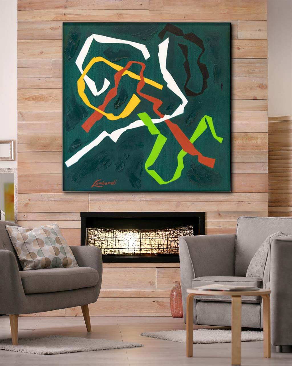 Big Abstract Colorful Shapes Wall Art Huge Decor Prints