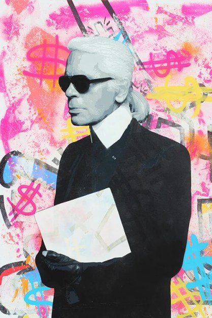 Big Artist Lukas Avalon lukasavalon Oversized Wall Art home Decor Spray Paint Painting Colorful Abstract Grafitti Celebrity Celeb Pop Art Karl Lagerfeld Instagram Artist