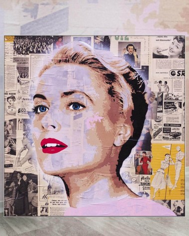 Huge Wall Art Pop Decor Gigantic Big Biggest Massive Huge Large Largest Giant Wall Décor Art Backlit Fabric Home Deco Artwork Monaco Artist Lukas Avalon lukasavalon grace kelly