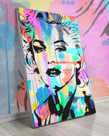 Oversized Wall Art Pop Decor Gigantic Big Biggest Massive Huge Large Largest Giant Wall Décor Art Backlit Fabric Home Deco Artwork Monaco Artist Lukas Avalon lukasavalon marilyn monroe in color