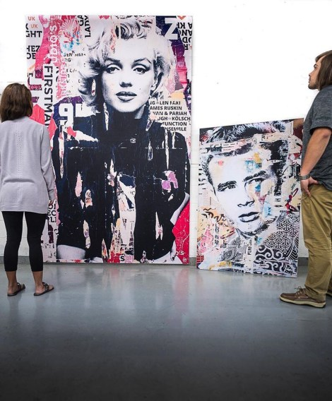 Big Marilyn Monroe James Dean Wall Art Huge Decor Prints