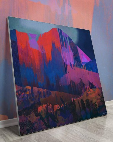 Oversized Wall Decor Abstract Prints Art Decor Big Biggest Huge Large Massive Largest Giant Gigantic Wall Décor Art Backlit Fabric Home Deco Artwork Artist Jamison Gish Surreal Digital Mystic Futuristic Instagram Mountain Color Colorful