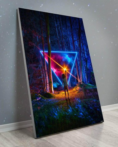 Large Fantasy Wall Art Large Oversized Giant Huge Large Big Biggest Massive Gigantic Wall Art Décor Backlit Fabric Lightbox Home Deco Artwork Colorful Surreal Digital Illustrator Futuristic Neon Rainbow Space Artist Think Lumi Thinklumi Instagram Astronaut Galaxy Space Futuristic Future