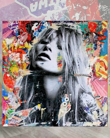 Oversized Wall Decor Kate Moss Pop Art Celebrity Gigantic Big Biggest Massive Huge Large Largest Giant Wall Décor Art Backlit Fabric Home Deco Artwork Michiel Folkers