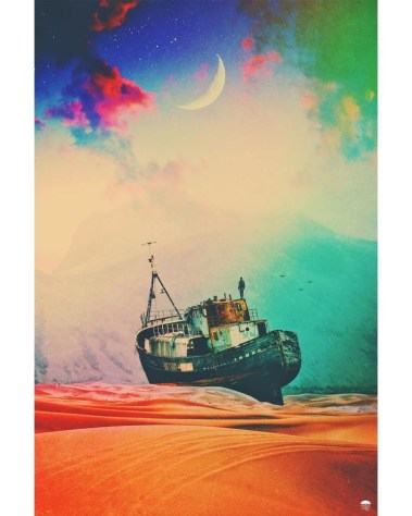 Big Colorful Sailboat Wall Art Huge Decor Prints