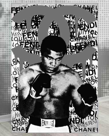 Giant Muhammad Ali Boxing Champion Pop Art Collage Wall Art