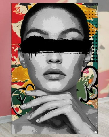 Huge Fashion Model Pop Art Collage Wall Art