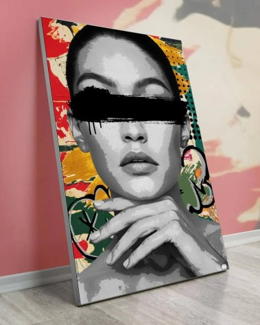 Biggest Fashion Model Pop Art Collage Wall Art