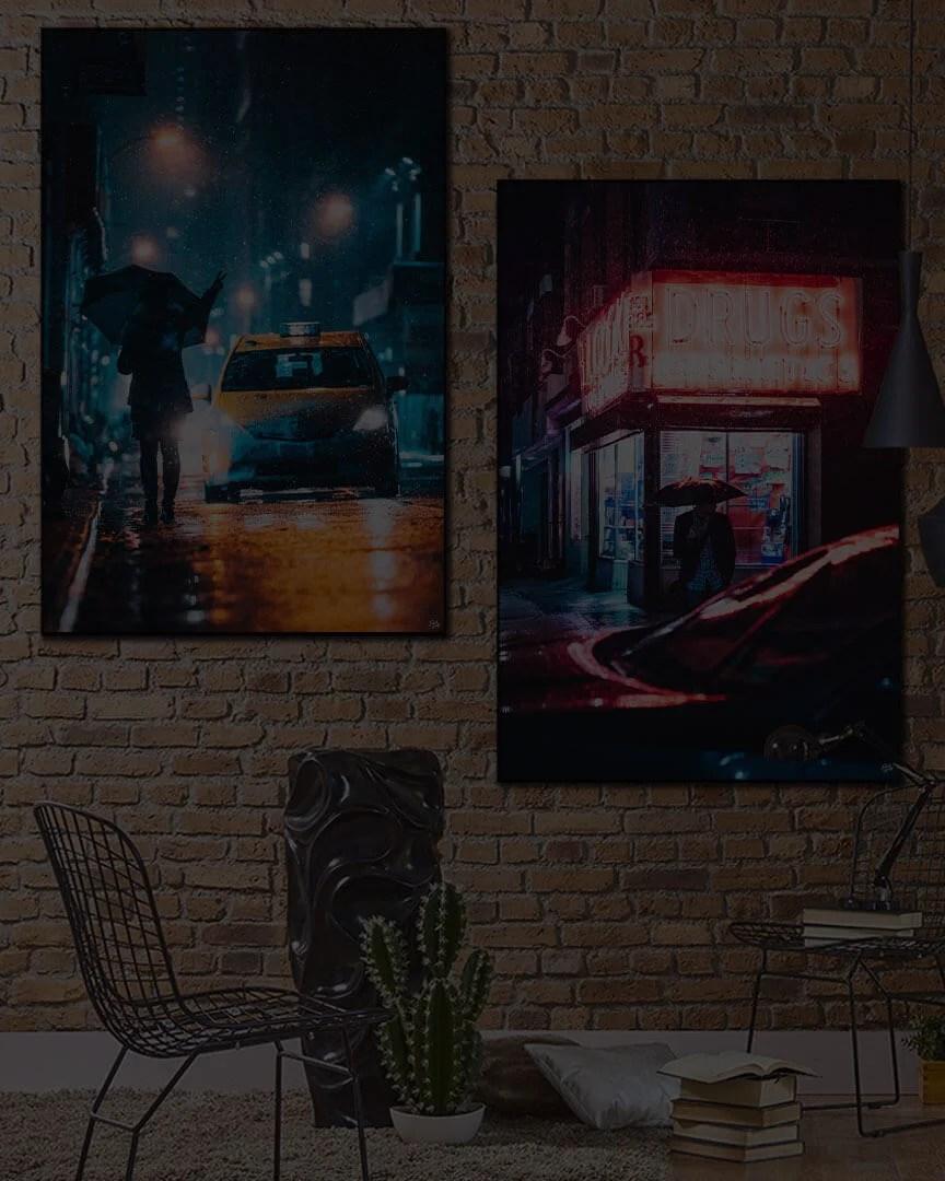 Big Urban Street Photography Wall Art Huge Decor Prints
