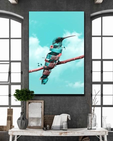 Large Surreal Wall Art Bird
