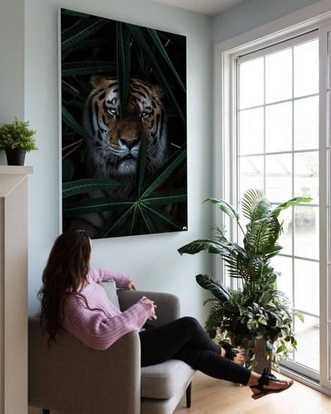 Big Tiger In The Jungle Wall Art Huge Decor Prints