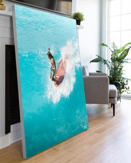 Big Wave in Hawaii Wall Art Huge Decor Prints